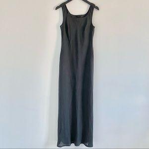 Sisley Y2K Bias Cut 100% Linen Dress
